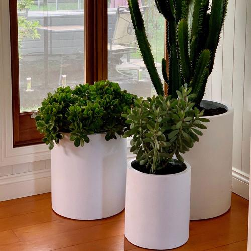 StoneLite-cylinder-custom-white-indoor-cover-pot-planter-online-featured-image